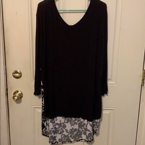 Lane Bryant Black and White blouse